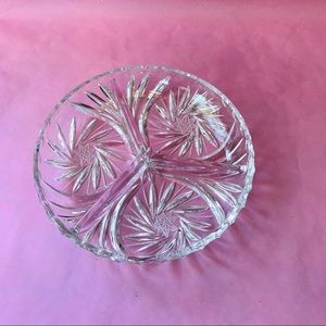 Vintage crystal party dish